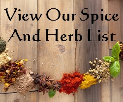 Spice and Herb List
